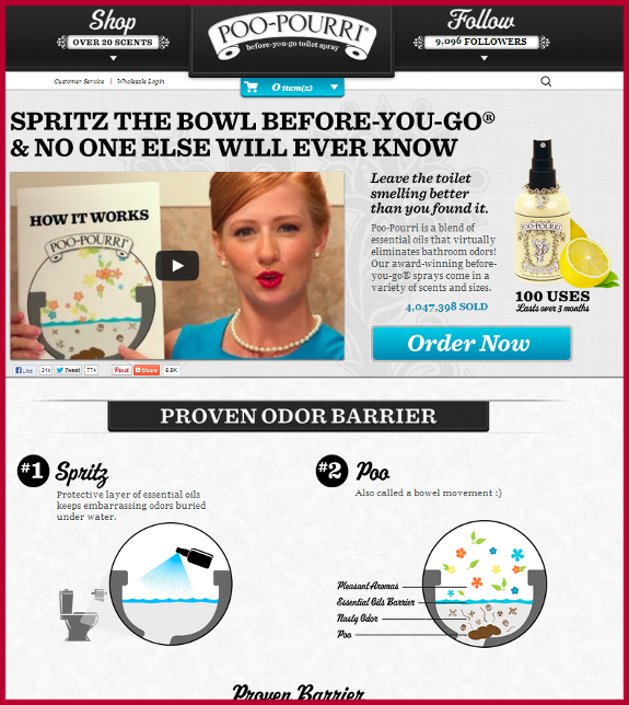 poopourri Bounce Rates Content Marketing Strategy