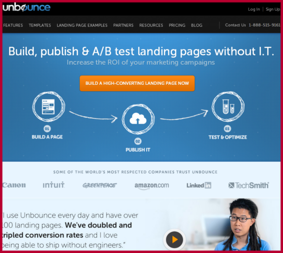 unbounce Bounce Rates Content Marketing Strategy