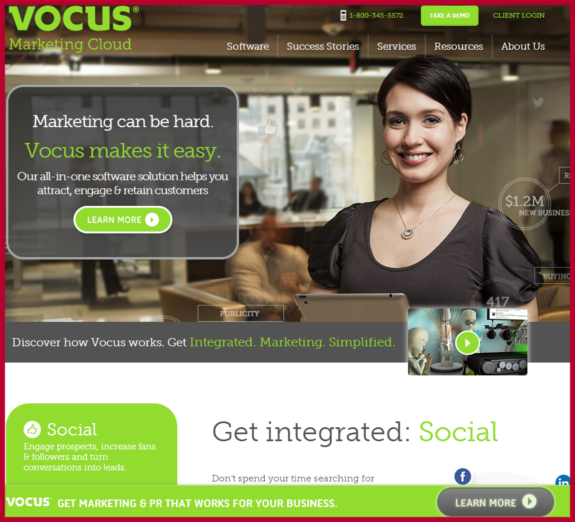 vocus Bounce Rates Content Marketing Strategy